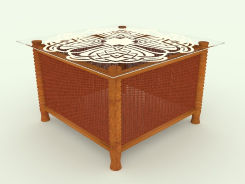 3d model table wicker