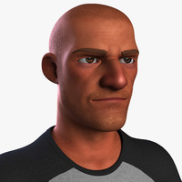 heroic cartoon character man 3d obj