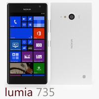 3d model of nokia lumia 735