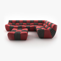 New Look BRONX corner sofa with pouf