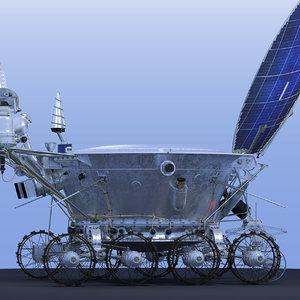 3d model lunokhod-2 lunar rovers