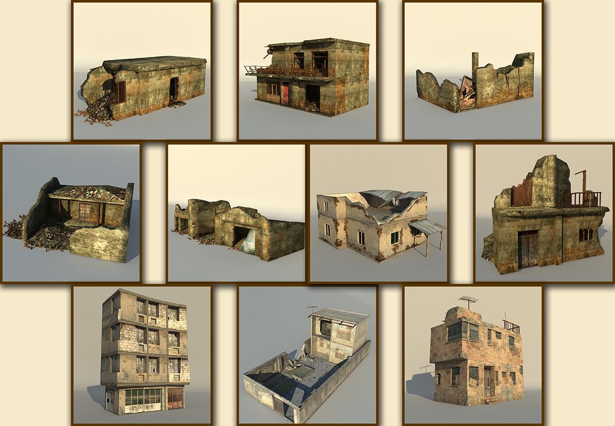 middle east house arab 3d model