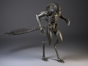 3d model rigged alien xenomorph