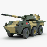chinese ptl02 tank destroyer 3d max