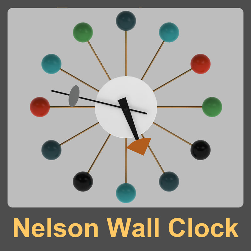 3dsmax nelson wall clock george for Nelson wall clock