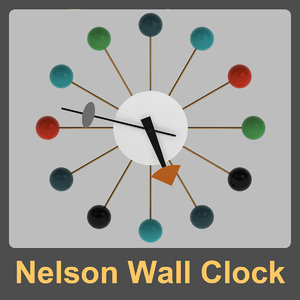 3dsmax nelson wall clock george