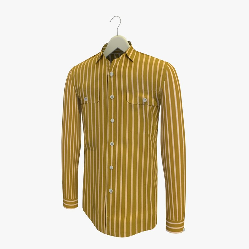 3ds stripe brown shirt hanger