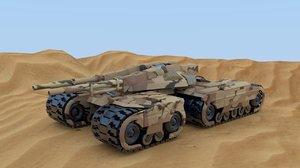 futuristic tank 3d blend