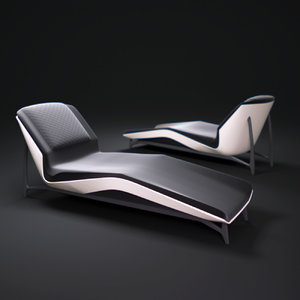 3d model benz-style-lounge-chair