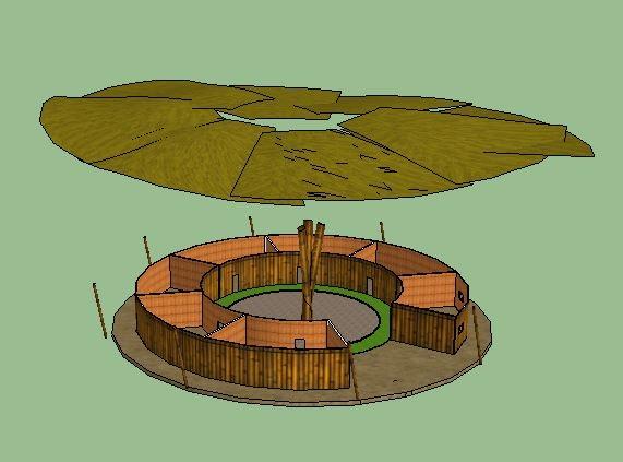 3d model of green school
