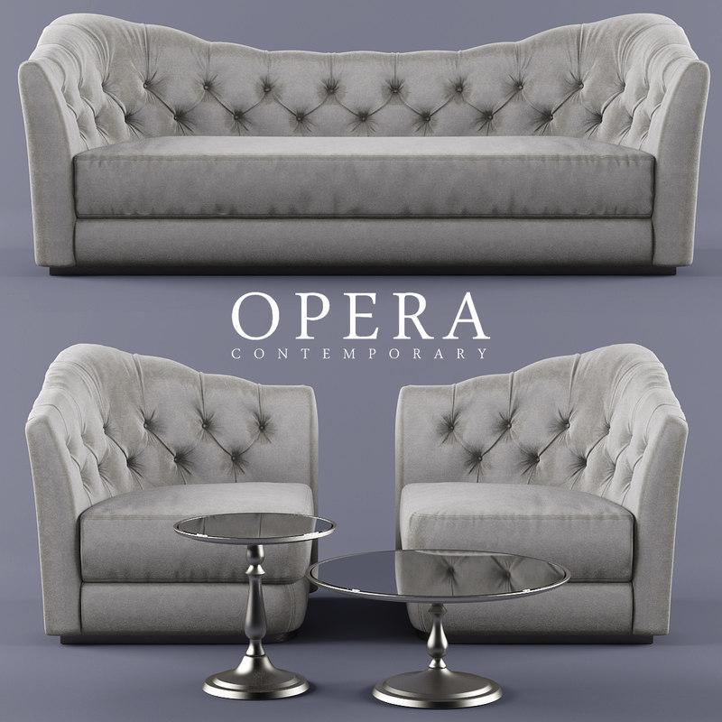 3d model sofa opera