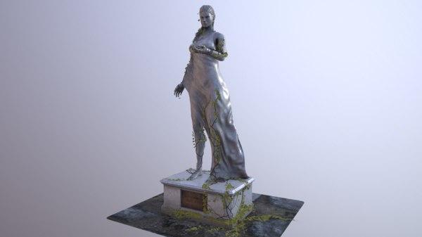 woman marmor statue ready max