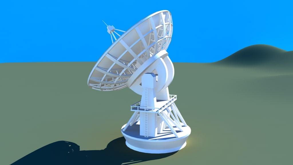 radiotelescope telescope radio 3d ma