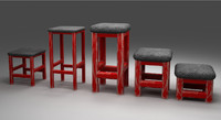 chairs stools 3d model