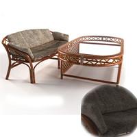 3d max furniture wicker