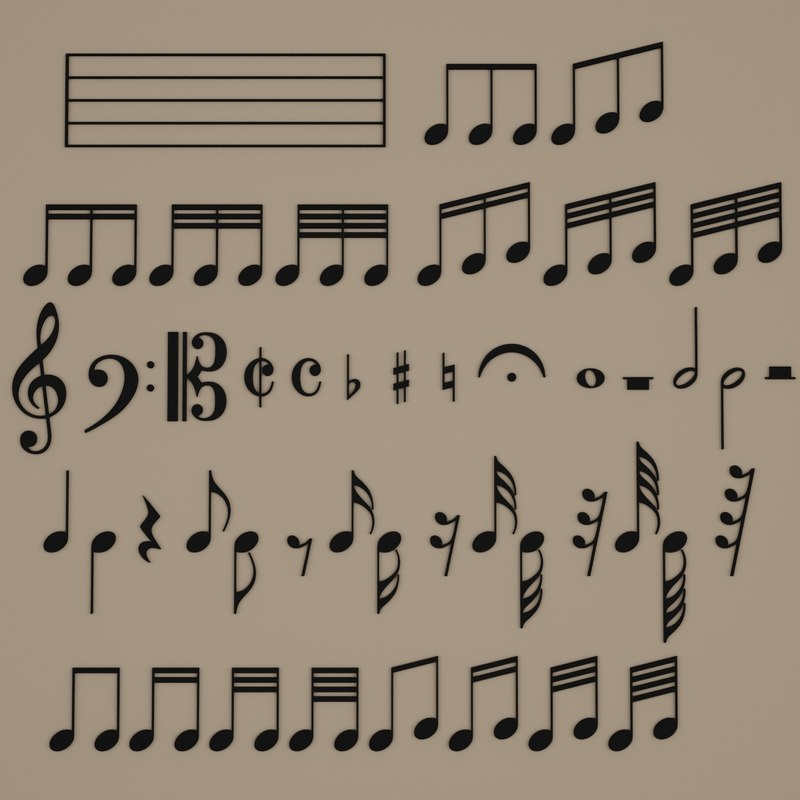 3d model music symbol