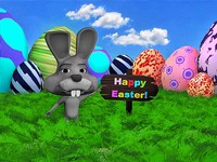Easter Rabbit Scene