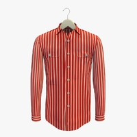 stripe red shirt hanger 3ds