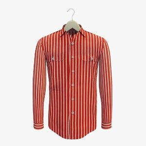 stripe red shirt hanger 3ds