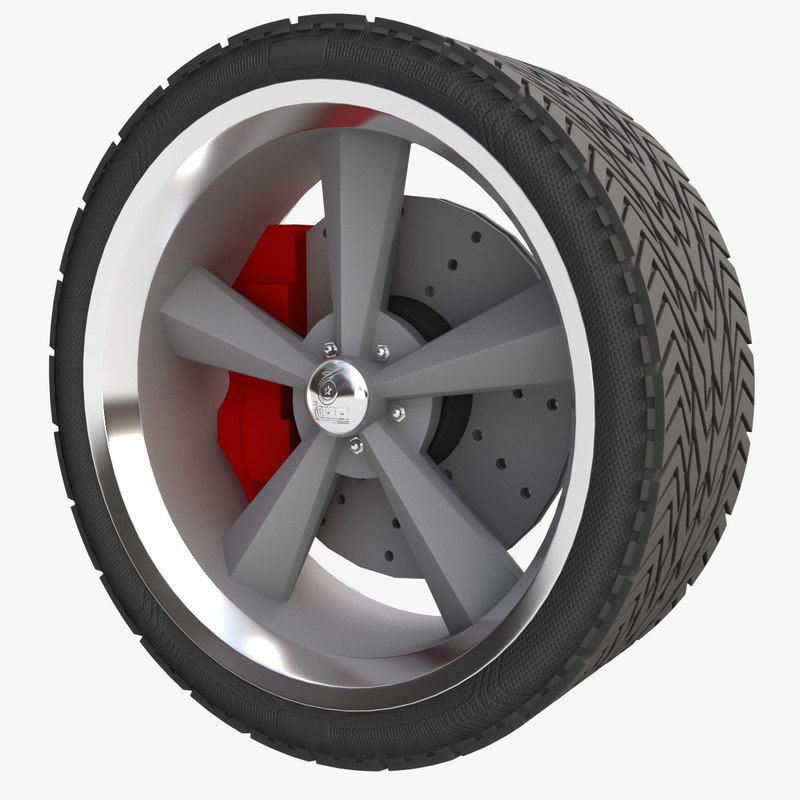 muscle car wheel 3d 3ds