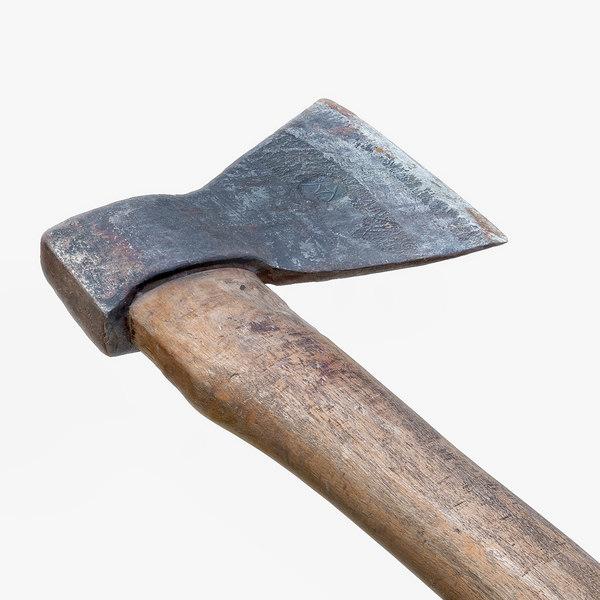 old steel axe obj