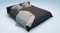 3d bed clothes model
