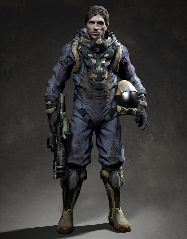 soldier man space 3d model