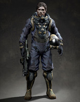 soldier man space 3d model
