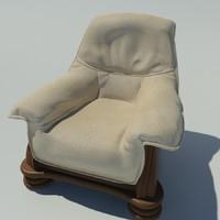 arm chair armchair 3d x