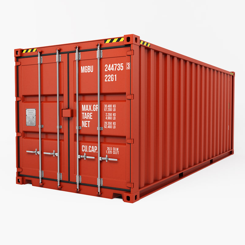3d container 20ft model