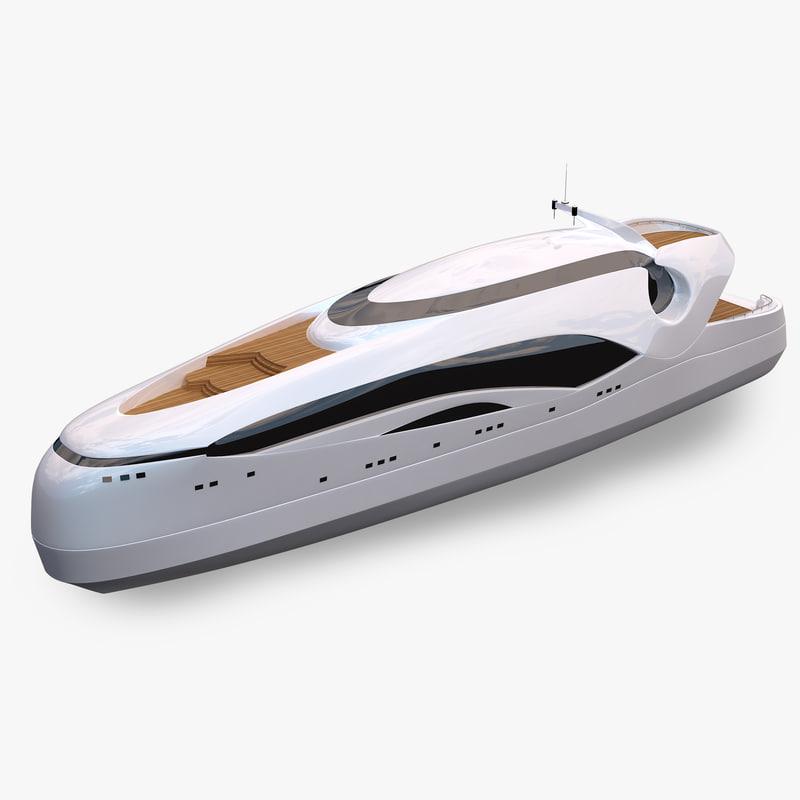 oculus yacht 3d model