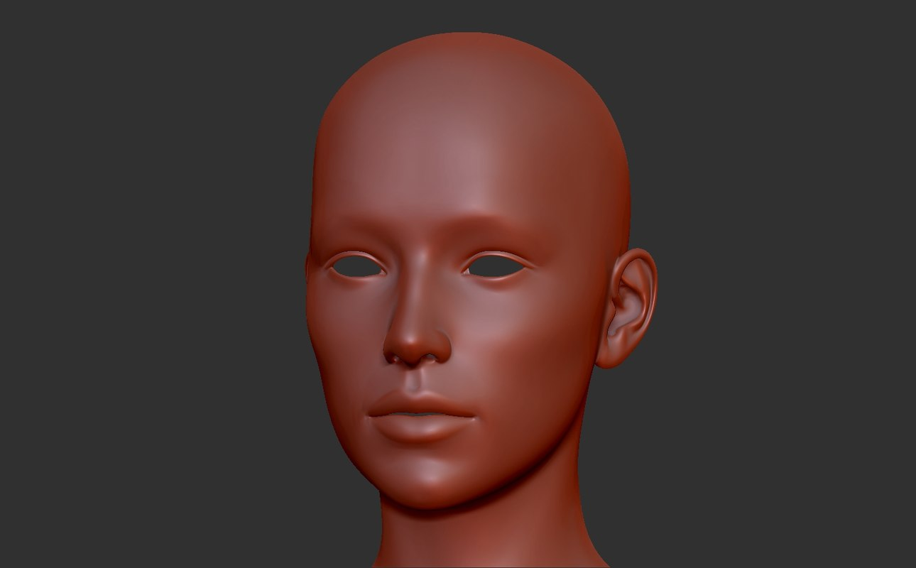 3d model female base mesh
