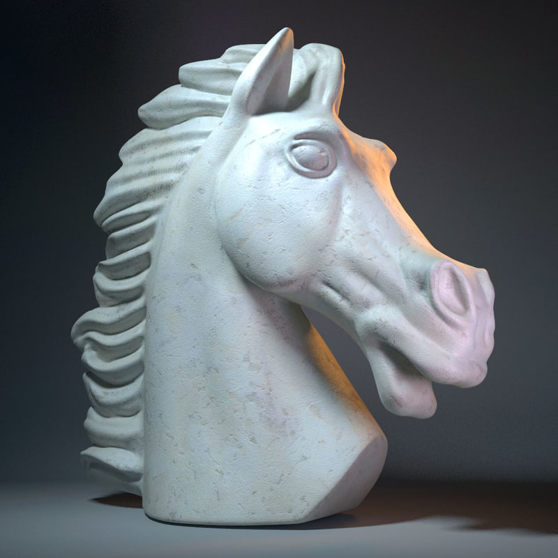 horse head 3d 3ds