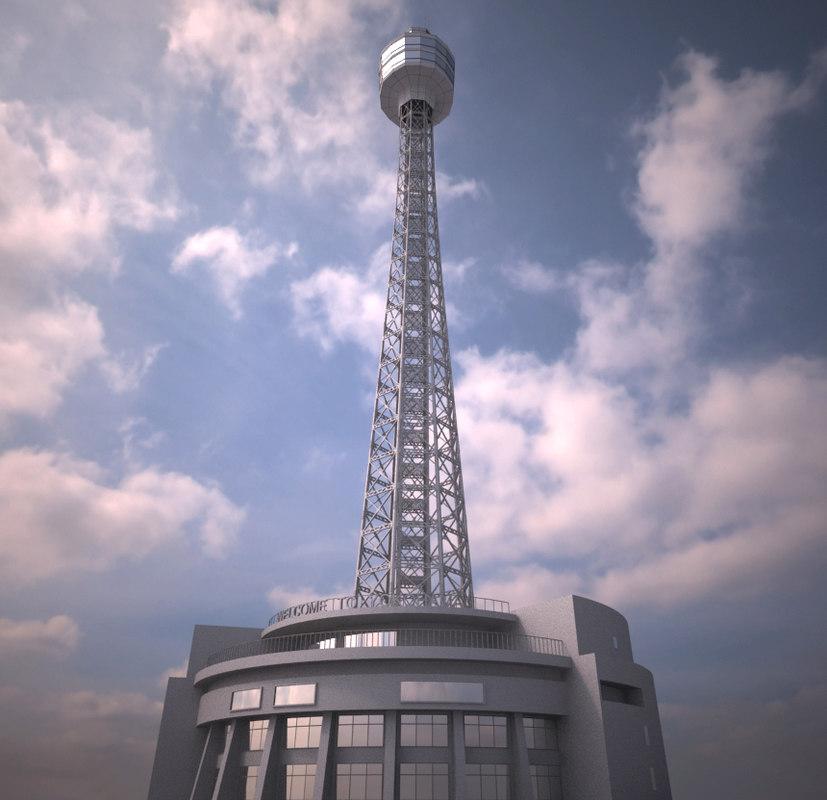 3d yokohama marine tower