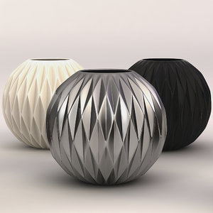 porcelain vase thomas 3d model