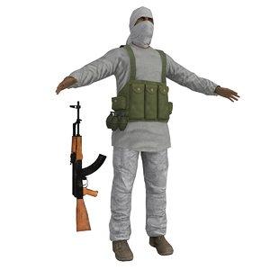 3d taliban soldier ak47