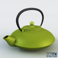 cast iron tea kettle 3d model