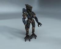 3d menacing mech model