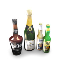 3d model alcoholic drinks