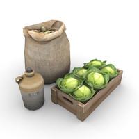 3d model food supplies
