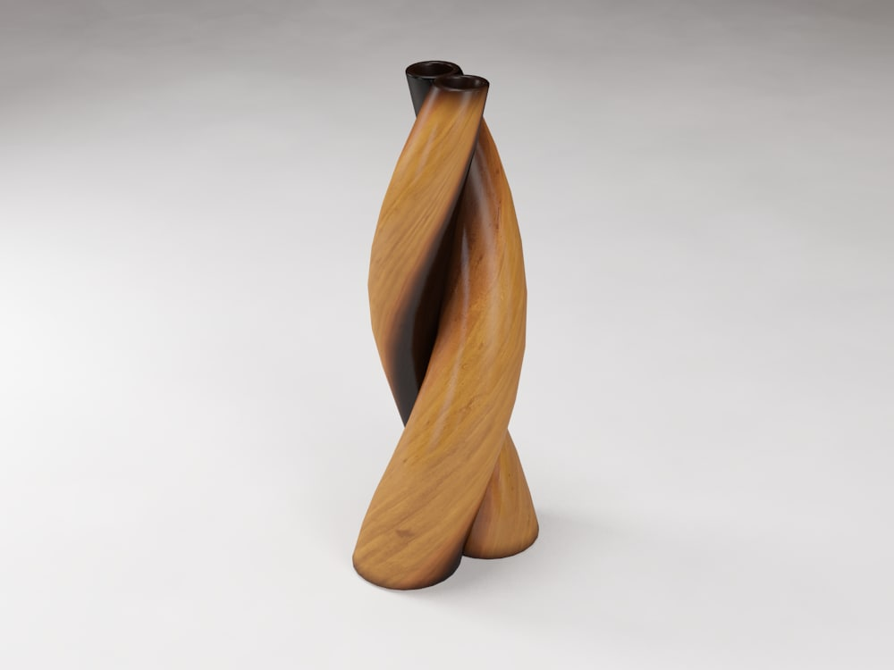 3d Model Decorative Wooden Spiral Vase