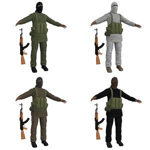 3d pack taliban model