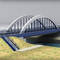 3d model of arch bridge
