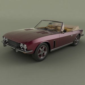 3d model 1974 jensen interceptor convertible