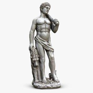 greek man sculpture 3d model