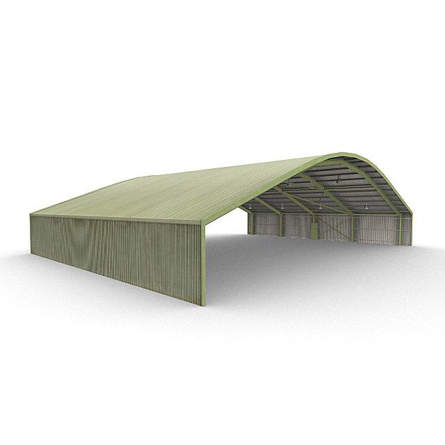 aircraft shelter 3d max