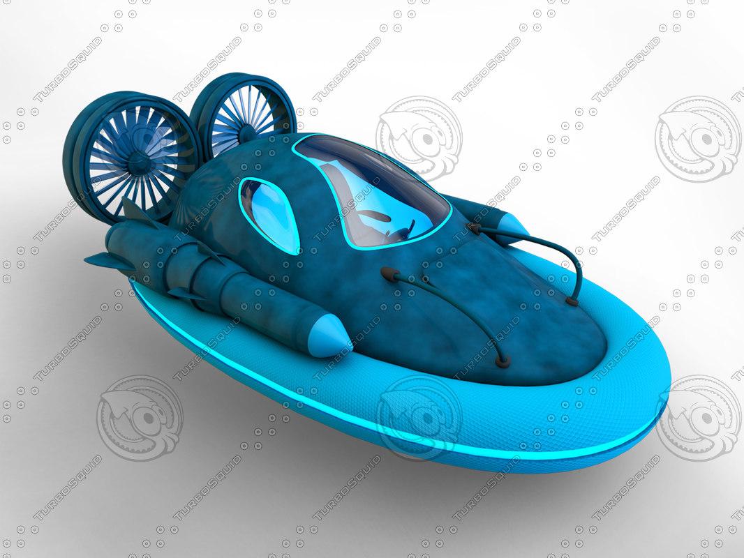3ds max futuristic hover car