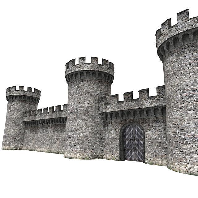 castle wall 3d max