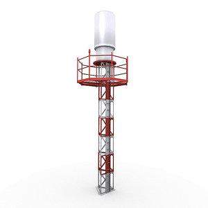 3d model navigation tacan antenna
