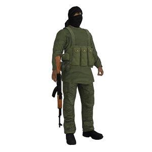 rigged taliban 3d max